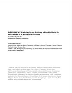 BibFrame AV Modeling Study_20140515