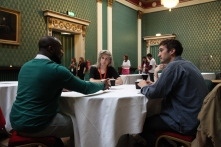 Archive trainees taking part in a 'Meet the Archivists' Roundtable Mentoring session at Sheffield International Documentary Festival